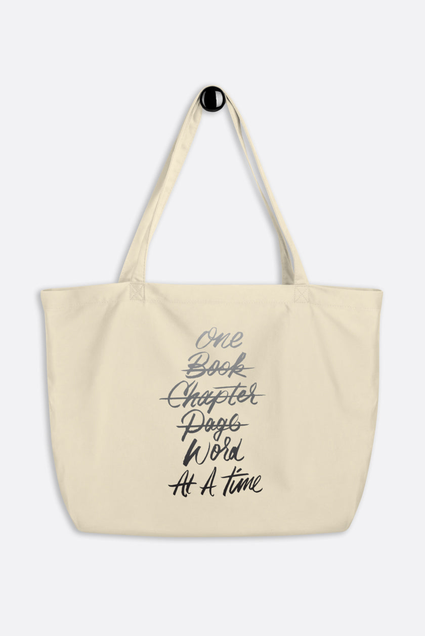 One Word at a Time Large Eco Tote Bag | V.E. Schwab Official Collection