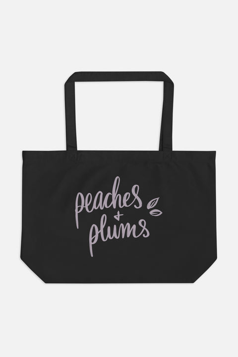 Peaches + Plums Large Eco Tote