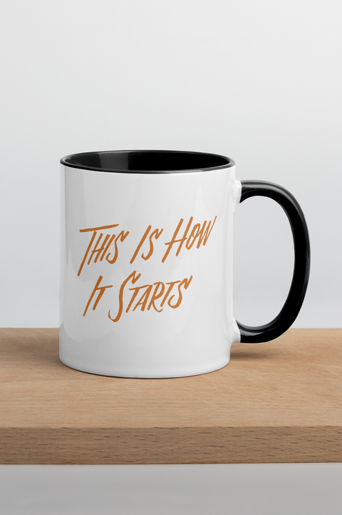 This Is How It Starts Colorful Mug | The Invisible Life of Addie LaRue