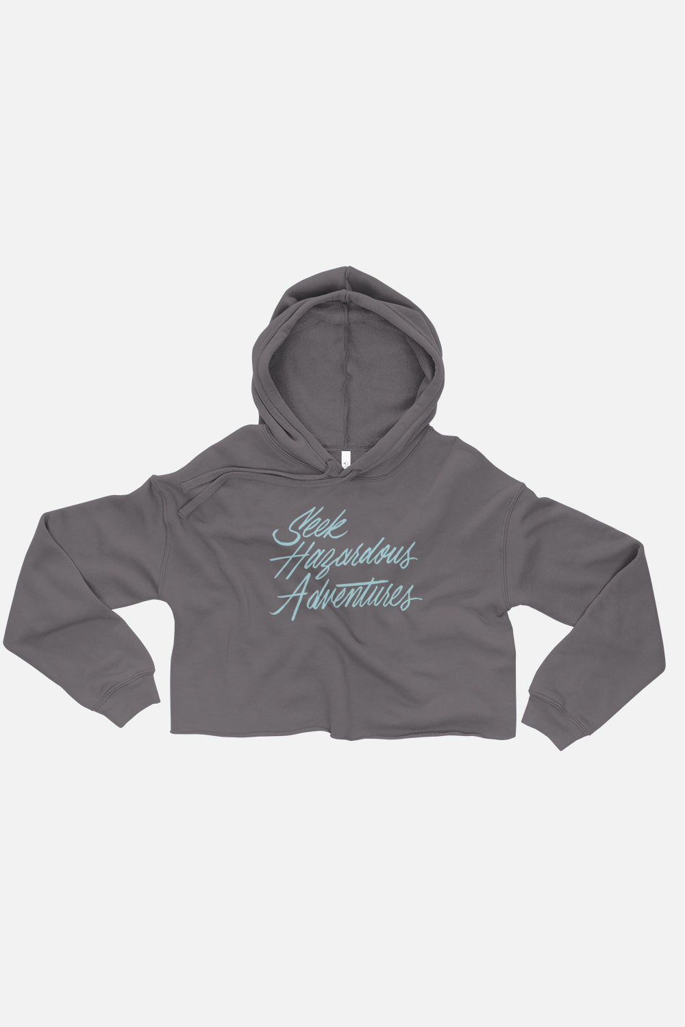 Seek Hazardous Adventures Fitted Crop Hoodie