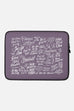 Jordandené Laptop Sleeve | Purple - 13 or 15 inch