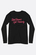 Read Romance, Fight Patriarchy Unisex Long Sleeve Tee