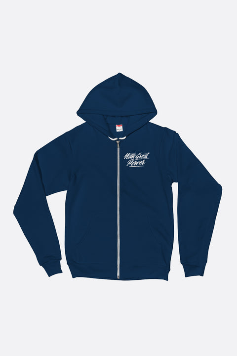 With Great Power Zip Up Hoodie