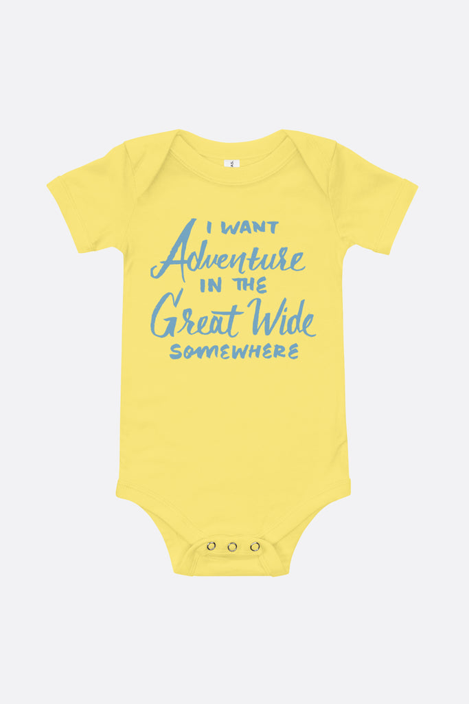 I Want Adventure Baby Onesie