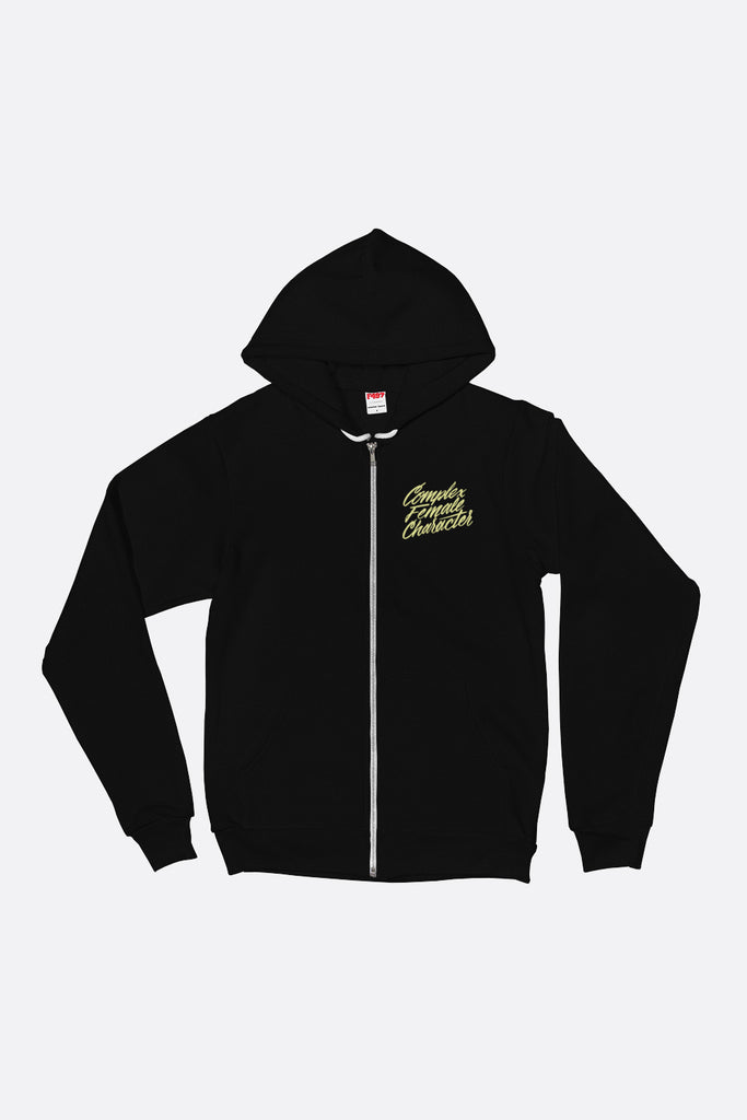 Complex Female Character Zip Up Hoodie