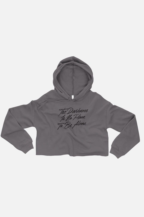 The Darkness is No Place to Be Alone Fitted Crop Hoodie | The Invisible Life of Addie LaRue