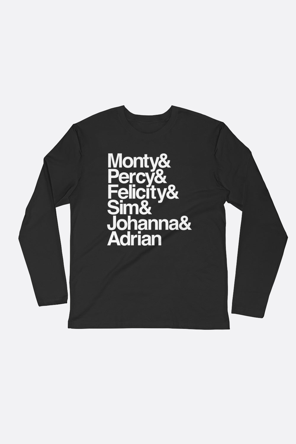 Montague Siblings Ampersand Long Sleeve Fitted Crew | Mackenzi Lee