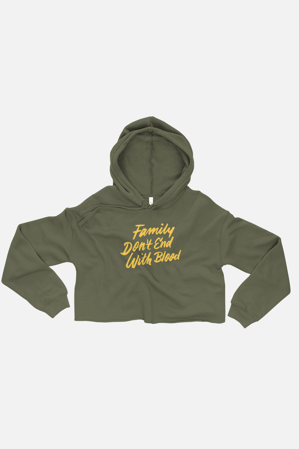 Family Don't End with Blood Crop Hoodie