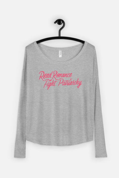 Read Romance, Fight Patriarchy Fitted Long Sleeve Tee | Sarah MacLean