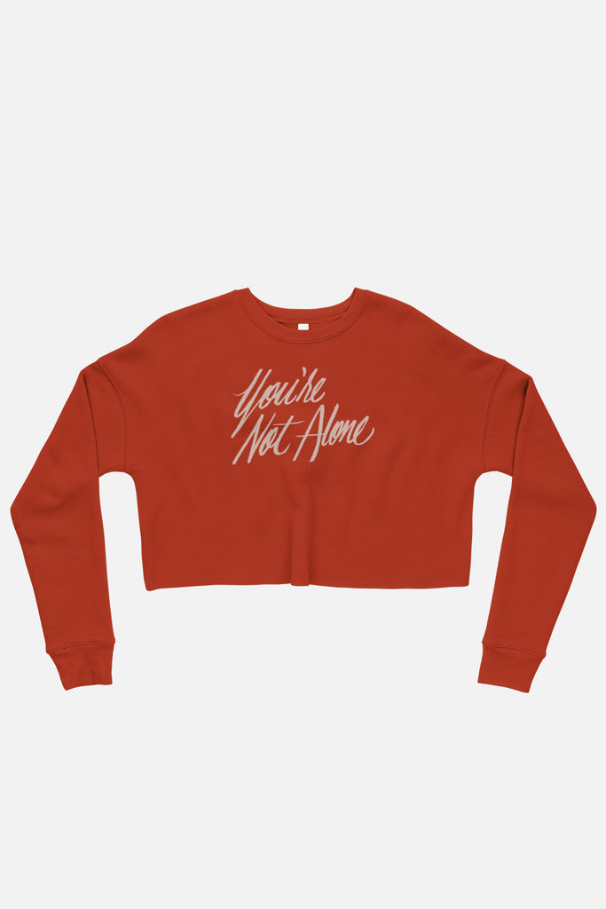 You're Not Alone Fitted Crop Sweatshirt