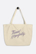Travel Hopefully Large Eco Tote Bag