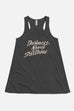 Darkness Never Sustains Fitted Flowy Racerback Tank