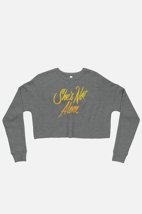 She's Not Alone Crop Sweatshirt