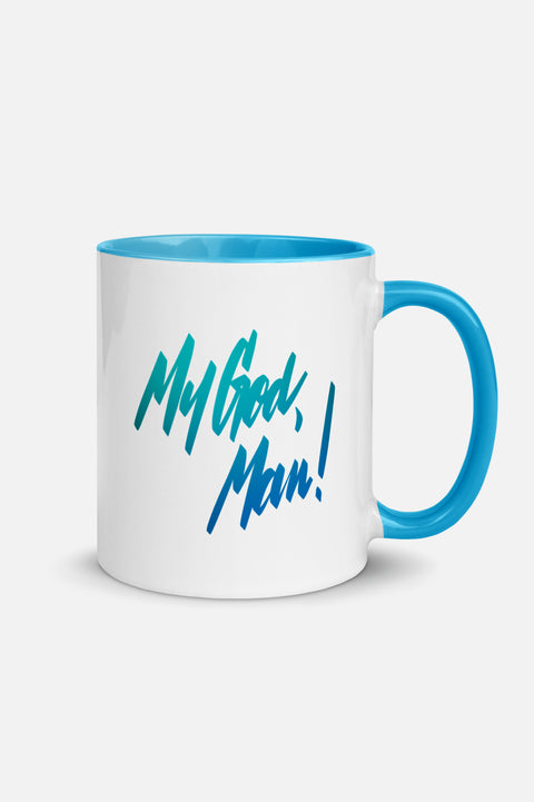 My God, Man! Colorful Mug
