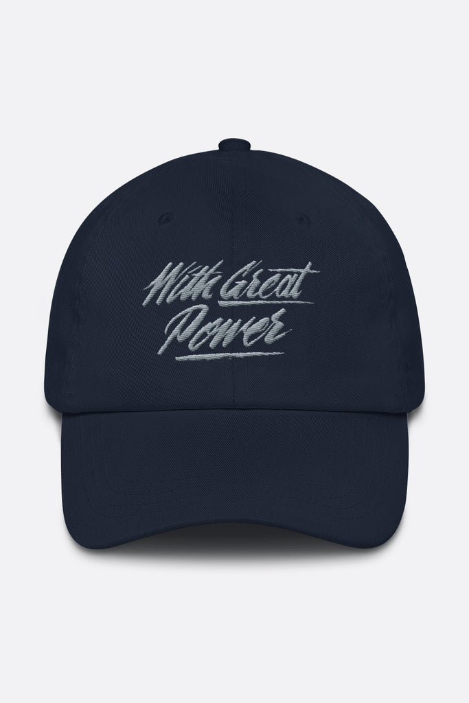 With Great Power SpiderMan Dad Hat