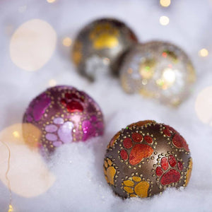 Beaded Paw Ball | Christmas Ornament