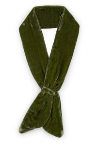 Green Cotton Velvet Neckerchief - Velvet Neckerchief (Green)