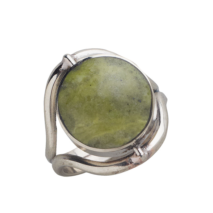 Serpentine, Sodalite And Alpaca Metal Ring - Choose Your Mood Ring