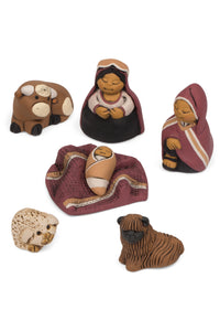 Peruvian Ceramic Nativity Set - Peaceful Sleep Nativity