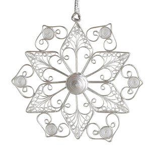 Silver Copper Ornament - Snow Wonder Ornament