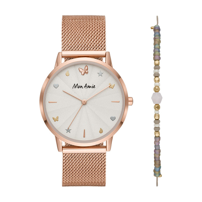 Quartz Stainless-Steel Strap | Rose Gold