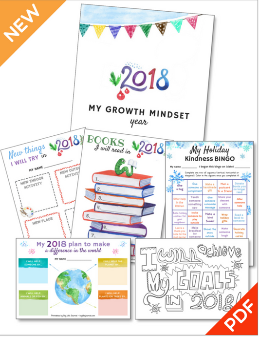 Growth Mindset Printables New Year Kit