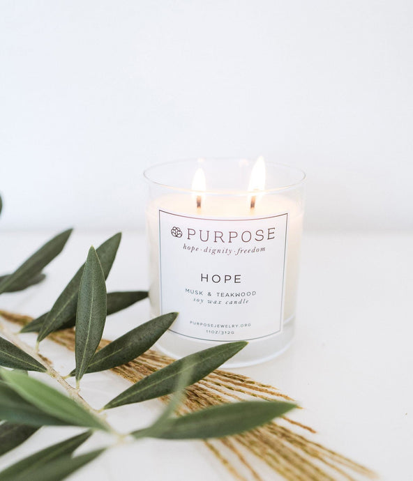 gift that gives back soy candle