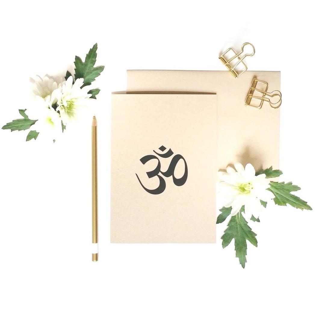 OM greeting card perfect for yogi