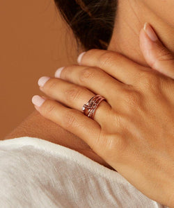 Stacked Charmed Ring Set