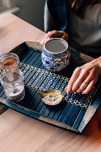 Beautiful Bamboo Tray - Warm Welcome Batik Tray