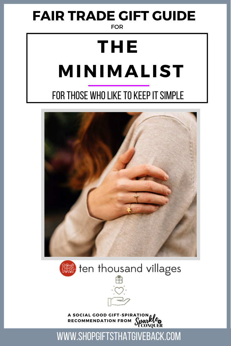 Gift Guide | For The Minimalist by Ten Thousand Villages