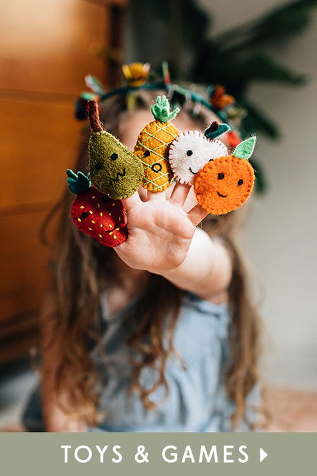 Market Fruit Finger Puppets