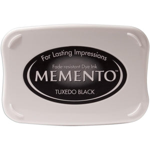 Tuxedo Black Memento Dye Ink Pad - Scrap of Paradise