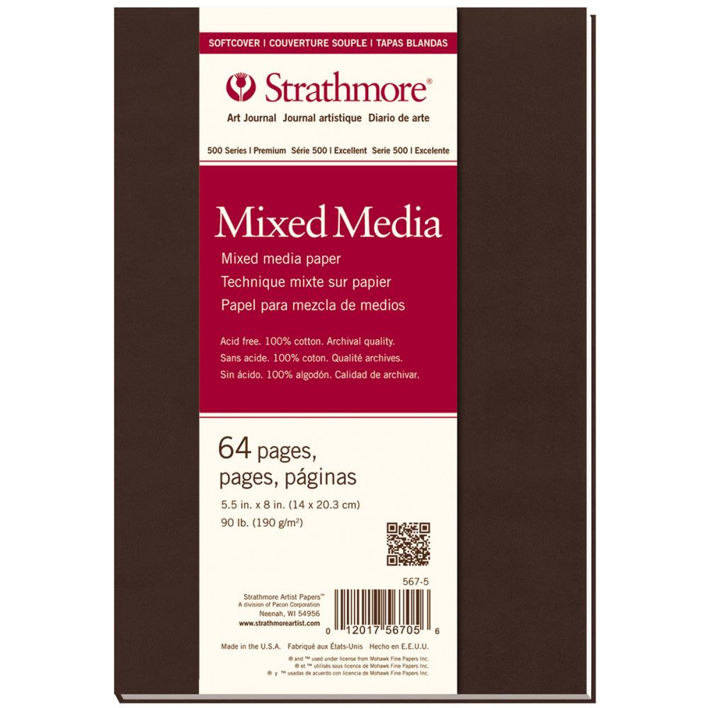 "Mixed Media Art Journal Soft Cover 64 pages 5.5"" x 8.5"""