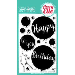 Avery Elle Balloons Stamp - Scrap of Paradise