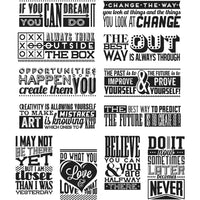 Tim Holtz Mini Motivation Stamp Set