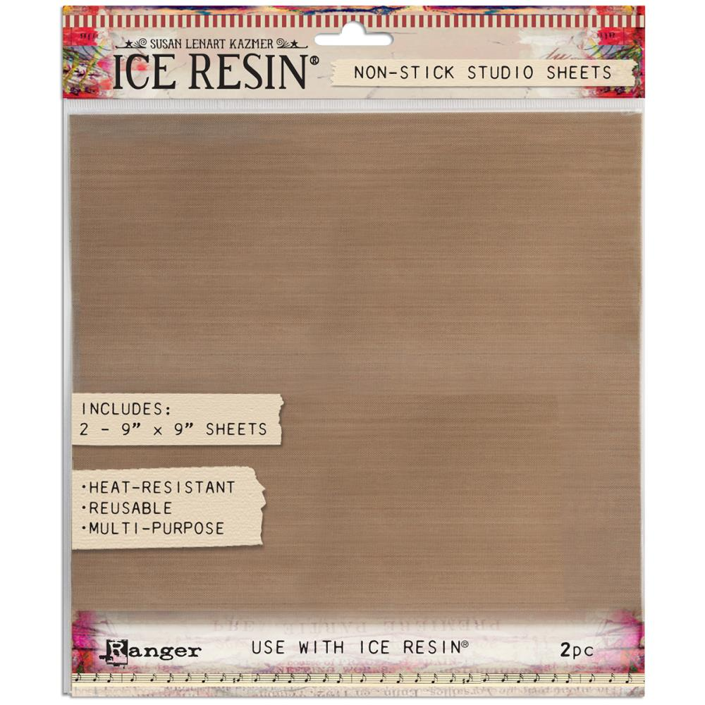"Ice Resin Studio Sheet 9""X9"" 2/Pkg - Scrap of Paradise"