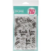 Avery Elle Floral Frame Stamp - Scrap of Paradise
