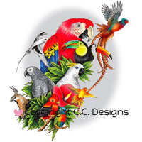 "CC Designs Bird Aviary Stamp 3.8"" x 4.5"""