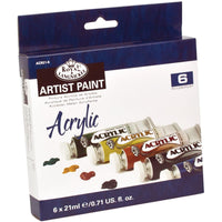 Artist Paint 6 Colour Tubes x 21ml
