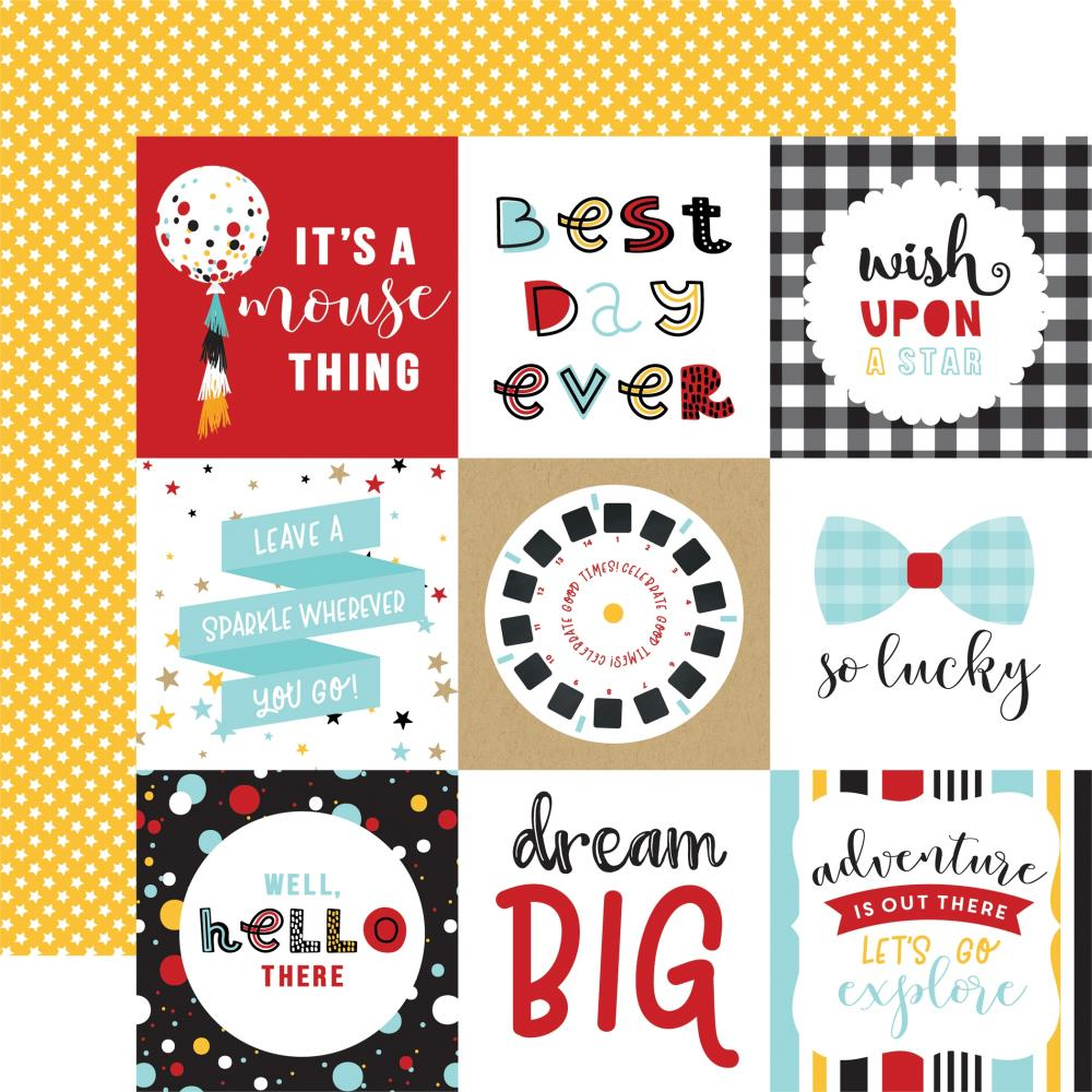 "Echo Park Magical Adventure 2 Double-Sided Cardstock 12""X12"" 4x4 Journaling Cards"