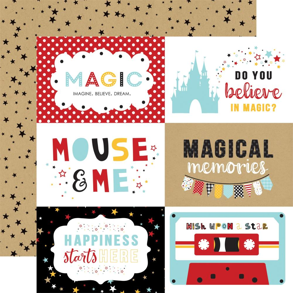 "Echo Park Magical Adventure 2 Double-Sided Cardstock 12""X12"" 6x4 Journaling Cards"