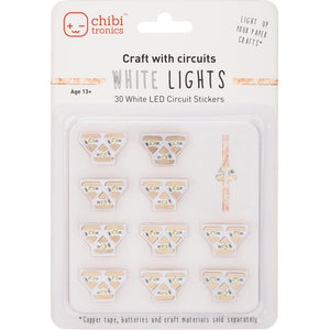 Chibitronics 30 White LED Sticker Lights - Scrap of Paradise