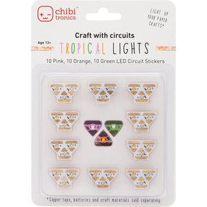 Chibitronics 30 Tropical LED Sticker Lights - Scrap of Paradise
