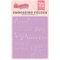 "Once Upon A Time Embossing Folder 4.25""X5.75"""