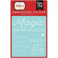 "Magic and Wonder Embossing Folder 4.25""X5.75"""