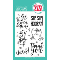 Avery Elle Sip Sip Hooray Stamp - Scrap of Paradise