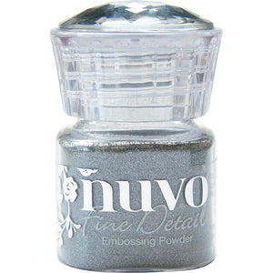 Classic Silver Nuvo Embossing Powder Fine Detail .68oz - Scrap of Paradise