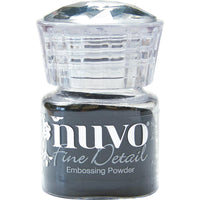 Jet Black Nuvo Embossing Powder Fine Detail .68oz - Scrap of Paradise