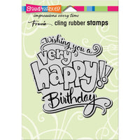 Great Big Happy Stampendous Cling Stamp - Scrap of Paradise
